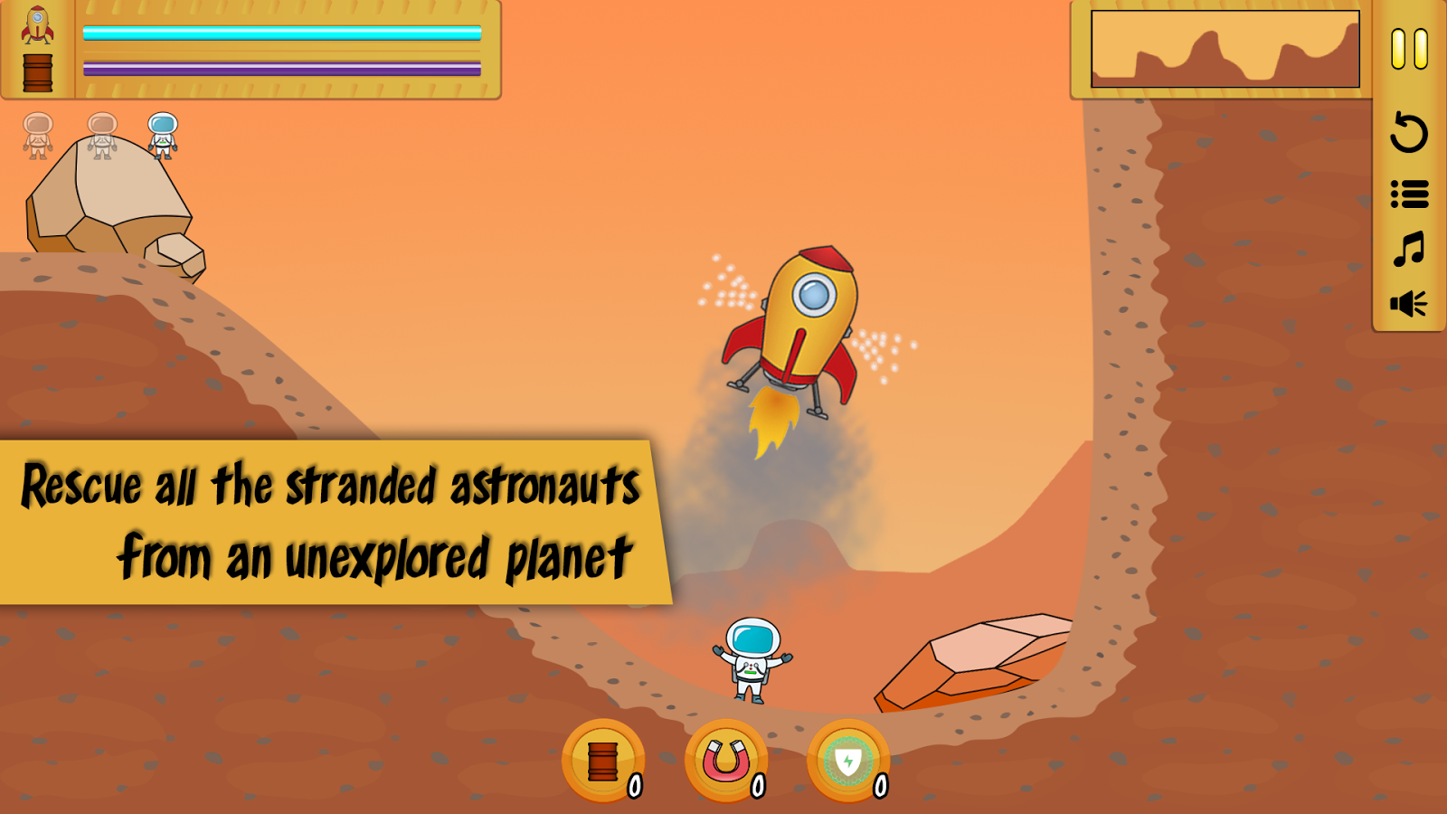 Rescue Lander- screenshot