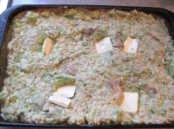 Put into a 2 quart baking dish, dot with butter. Bake at 350 degrees...