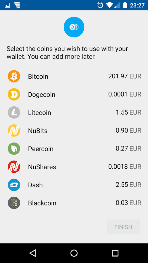 Coinomi Bitcoin Altcoin Wallet- screenshot