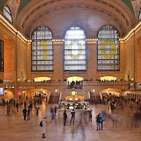 Viaggiatori a Grand Central NY di