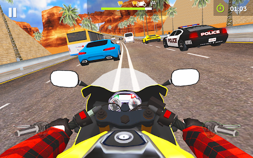 Moto Traffic Rider 3D Highway Screenshot