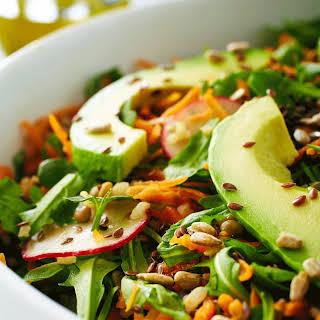 Lentil Carrot Avocado Salad.