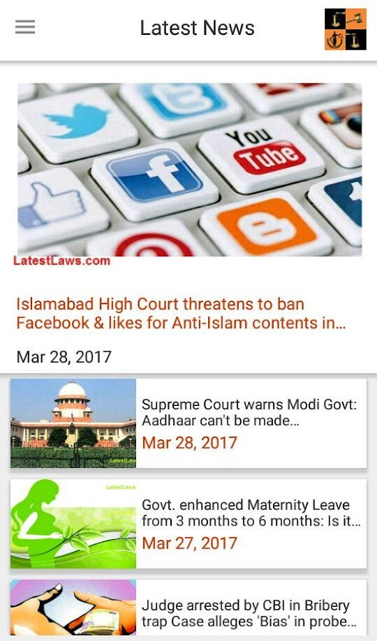 Latest Laws: Indian Laws, Bare Acts, News, IPC,CPC- screenshot