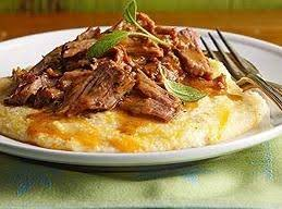 Milk-braised Pork With Cheesy Grits Recipe
