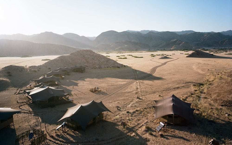 Hoanib Valley Camp may look desolate, but luxury awaits
