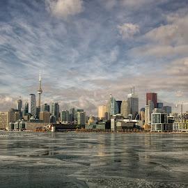 Toronto by Carl Chalupa - City,  Street & Park  Skylines ( winter, ice, toronto, city of toronto, ontario, toronto skyline, waterfront,  )