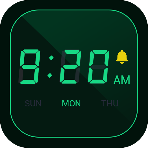 Digital Alarm Clock - Bedside Clock, Stopwatch Icon