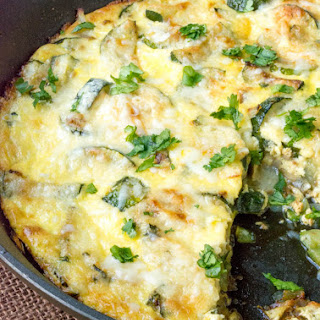 Low Carb Cheesy Zucchini Frittata.