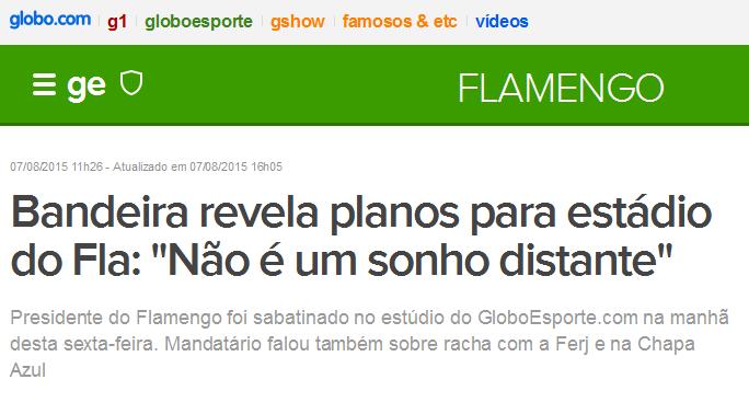 Flamengo não tem estádio, mas sonha com um eternamente