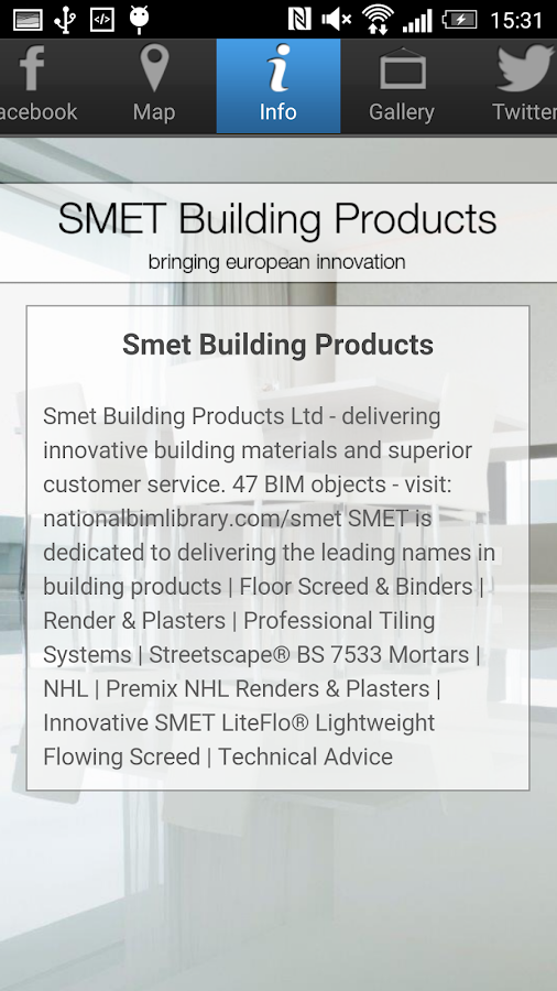 SMET Building Products- screenshot