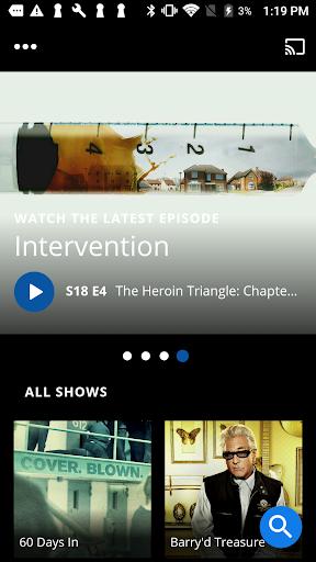A&E - Watch Full Episodes of TV Shows screenshot 1