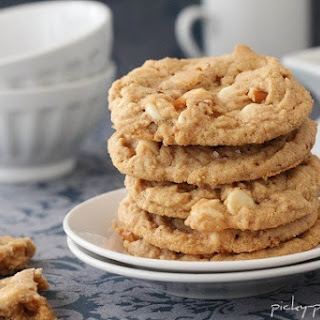 Double White Chocolate and Pretzel Peanut Butter Cookies…with Sea Salt Recipe