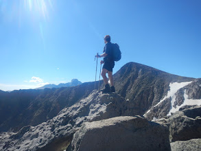 Photo: On Flattop Mountain, gazing toward Longs Peak. Photo by Steph Petri