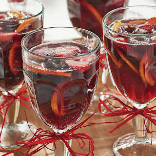 Fresh Cherry & Strawberry Sparkling Sangria.