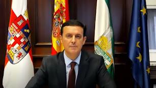 Javier Aureliano García, en el pleno telemático y extraordinario de hoy.