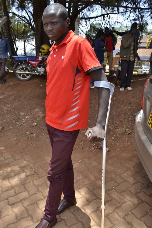 Man returns in crutches after Middle East 'slavery'