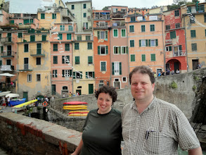 Photo: Beautiful Riomaggiore. This is the Cinque Terre town where Leo and I stayed during our honeymoon