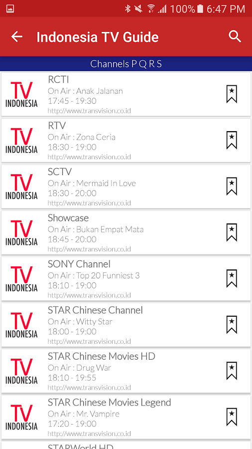 indonesia live tv guide - android apps on google play - Mobile Tv Indonesia