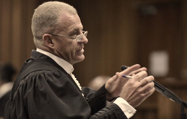 Gerrie Nel during the Oscar Piostorius trial. Picture: REUTERS