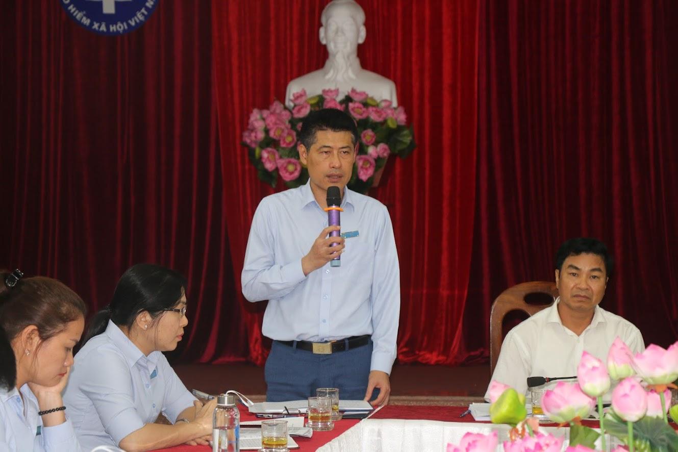 Ông Lê Trường Giang, Giám đốc BHXH tỉnh kết luạn Hội nghị
