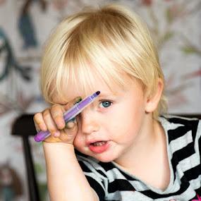 by Mats Andersson - Babies & Children Child Portraits ( child, draw, boy, portrait, eye )