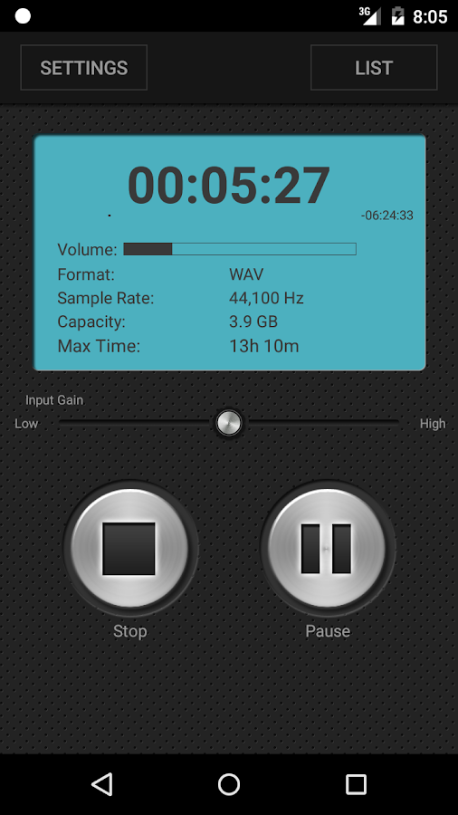 PCM Recorder Pro- screenshot