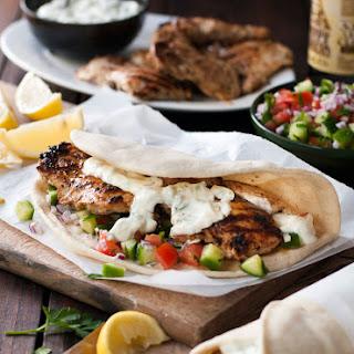 Greek Chicken Gyros with Tzaziki Recipe