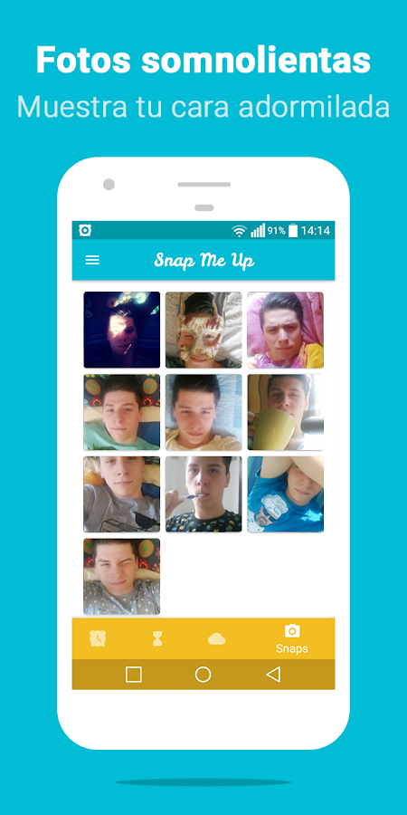 Snap Me Up: Despertador Selfie: captura de pantalla