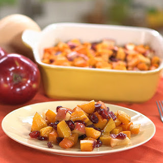 Holiday Butternut Squash with Apple & Cranberries.