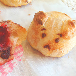 Explosive Strawberry Chocolate Bunnies with Pizza Dough
