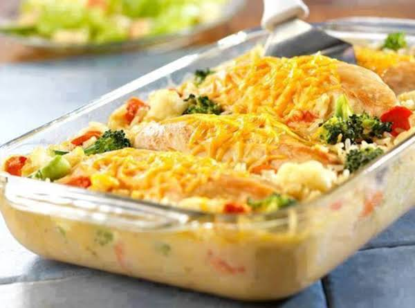 Cheesy Rice And Chicken Casserole Recipe