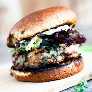 Spinach and Feta Grilled Turkey Burgers.