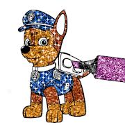 Patrol Glitter Coloring