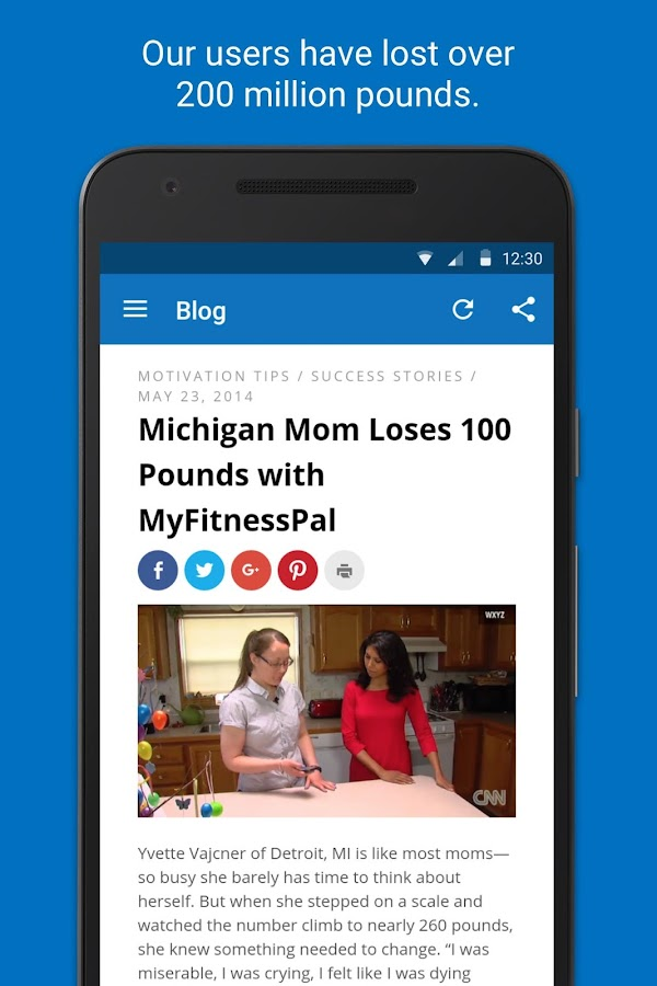 myfitnesspal quick weight loss