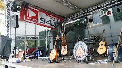 Photo: Die Bühne ist fertig.