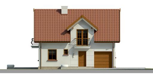 Dom przy Alabastrowej 22 - Elewacja przednia