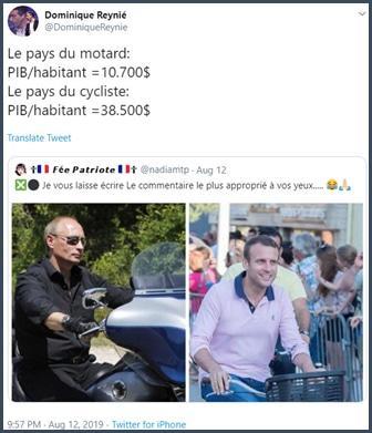 Tweet Dominique Reynié PIB par habitant en France et Russie