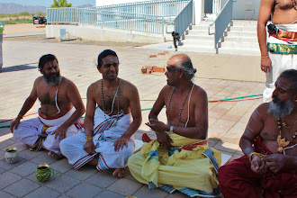 Photo: Priests are getting ready for yagna sankalpam