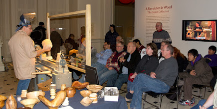 Photo: Tim Aley begins his part of the demo while a full house watches