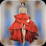 Fashion design sketches - Dress Icon
