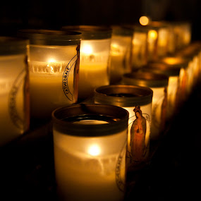Candles by Ibrahim Johan - Travel Locations Landmarks ( paris, notre dame, low light )