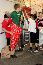 Photo: Wrap the teacher activity at class party