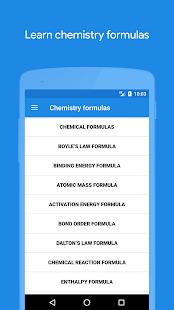 Chemistry formulas apps on google play screenshot image altavistaventures Image collections