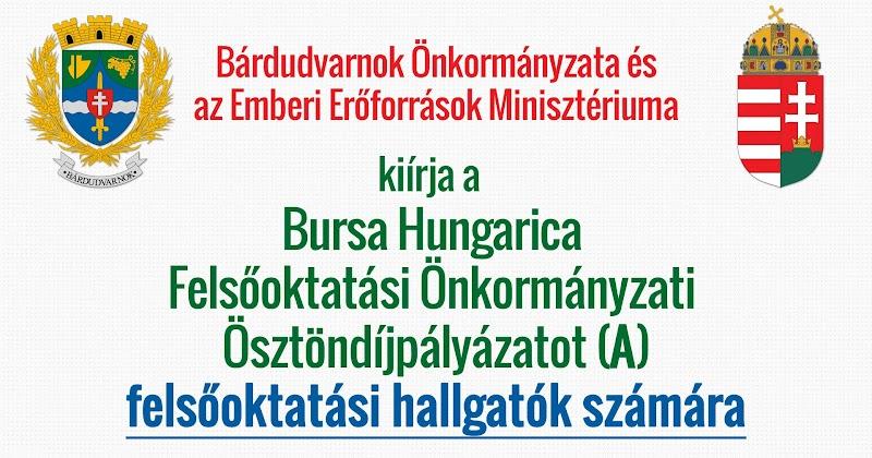 Bursa Hungarica pályázat felsőoktatási hallgatók 2019