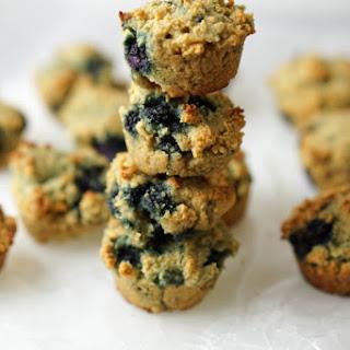 Paleo Mini Blueberry Muffins.