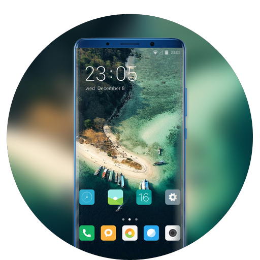 Theme for nokia5.1 plus summer beach wallpaper icon