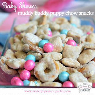 Baby Shower Muddy Buddy Puppy Chow Snacks