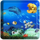 3D Seabed World Live Wallpaper Transparent Screen