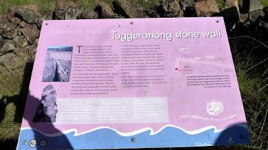 Photo: Tuggeranong Boundary or Stone Wall sign