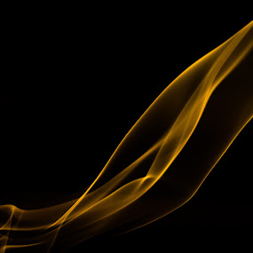 by Lubelter Voy - Abstract Fine Art ( dark, gold, yellow, black, smoke )